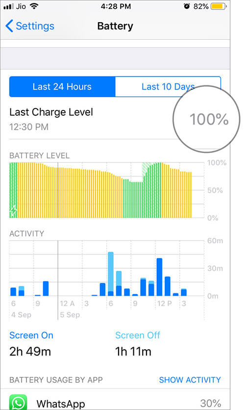 Check Last Charge Level of your iPhone