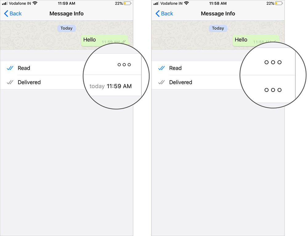 Check Read Receipts of Delivered and Read in Message Info on WhatsApp