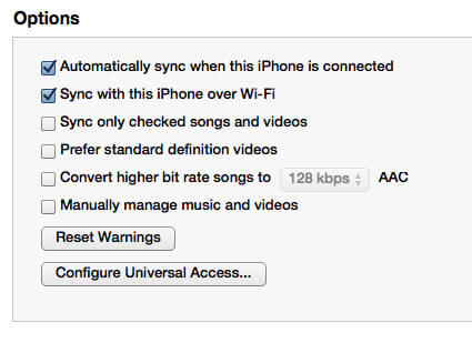 Check Songs to Sync on iTunes