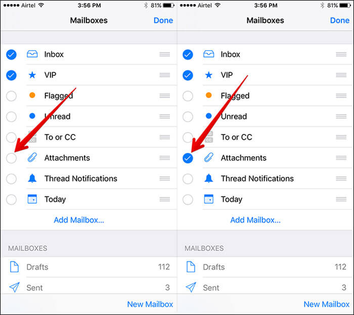 Check on Attachment in Mail App on iPhone