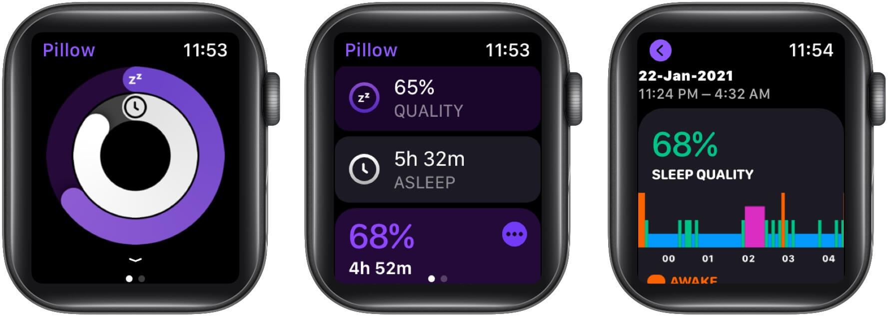 Check your daily sleep data from your Apple Watch