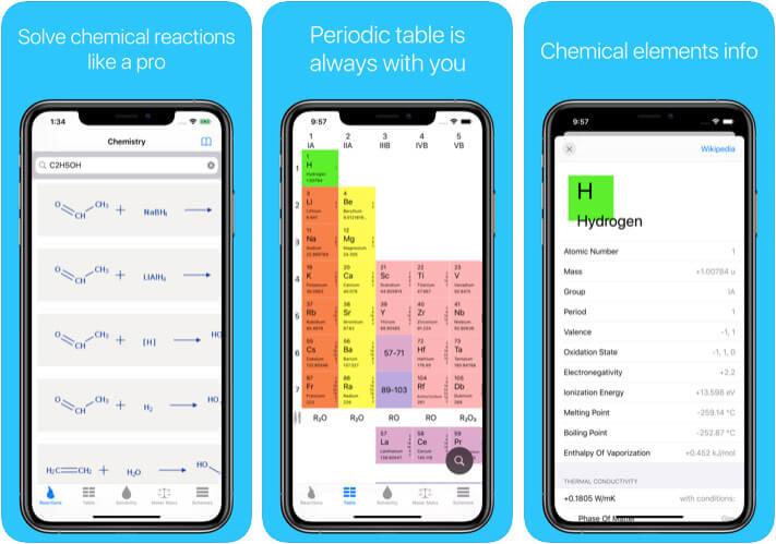 Chemistry and Homework iPhone and iPad Chemistry App Screenshot