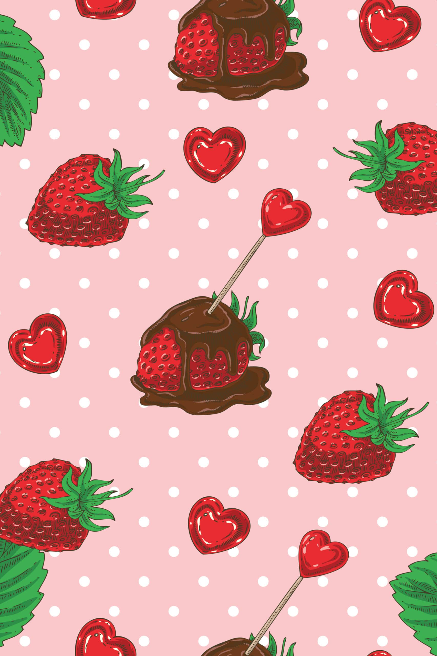 Choclates strawberies are the best Valentine's Day wallpaper for iPhone