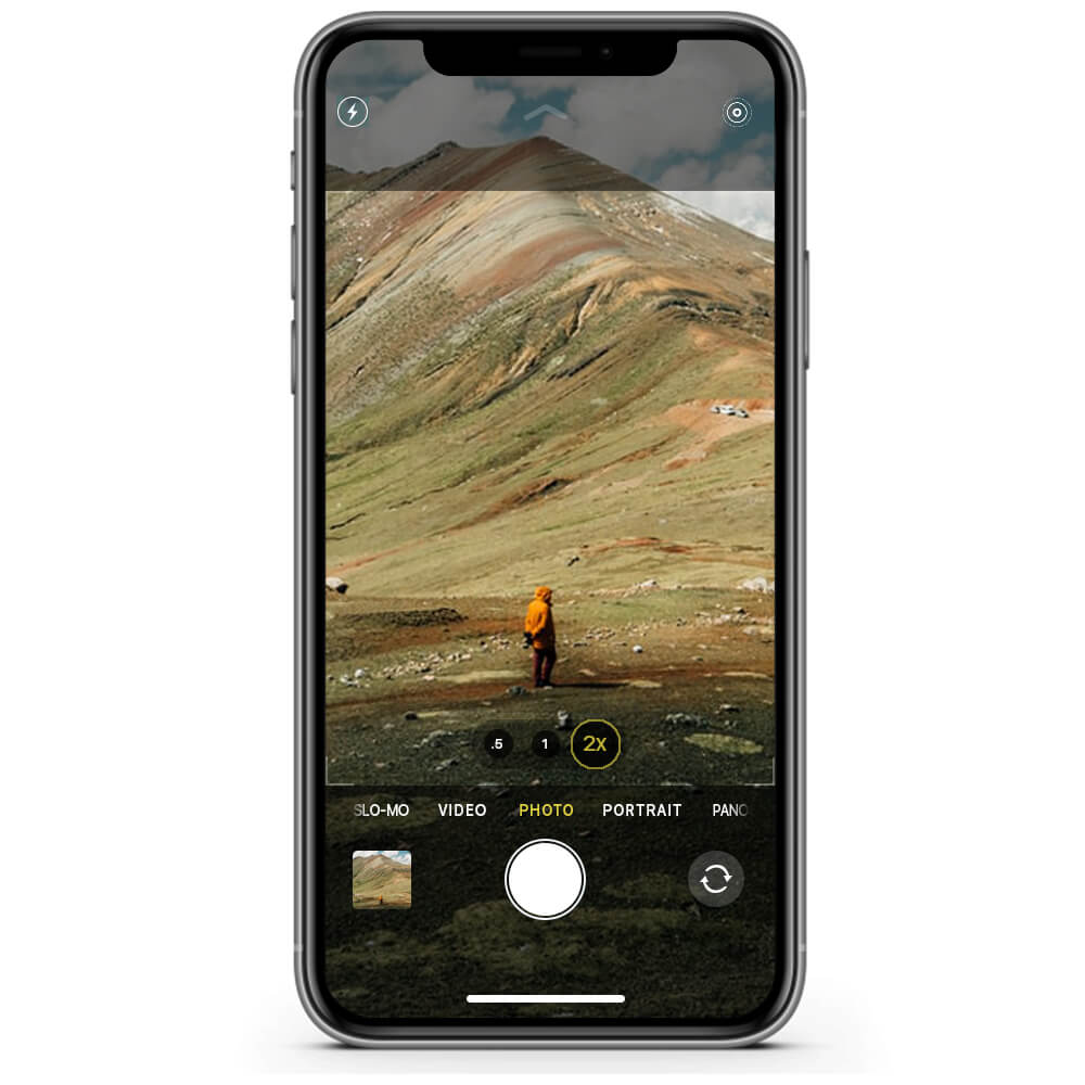 Choose 2x to shoot with shoot with telephoto lens on iPhone 11 Pro and 11 Pro Max