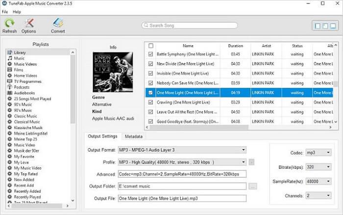 Choose Apple Music Tracks