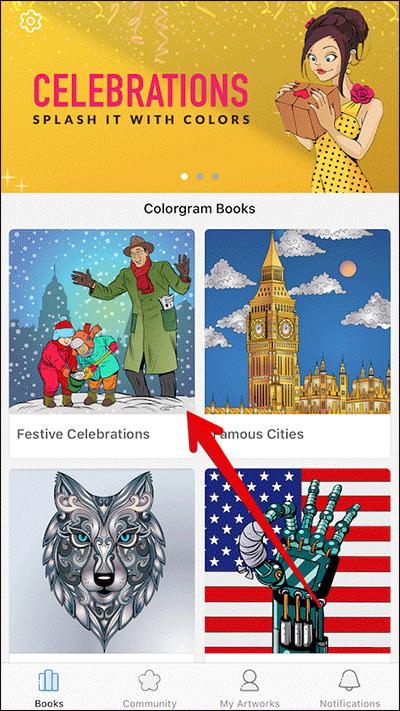 Choose Artwork Type in Colorgram iPhone App