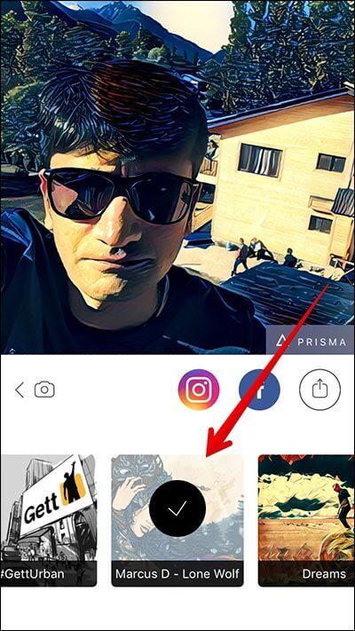 Choose Artwork in Prisma iPhone App
