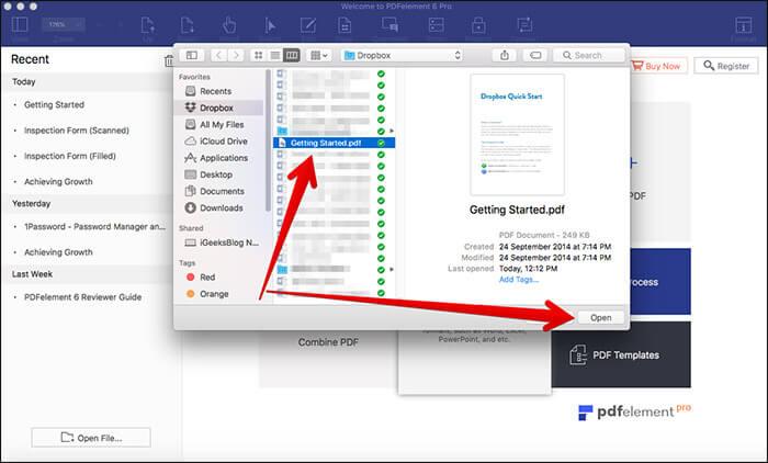 Choose PDF file to Convert