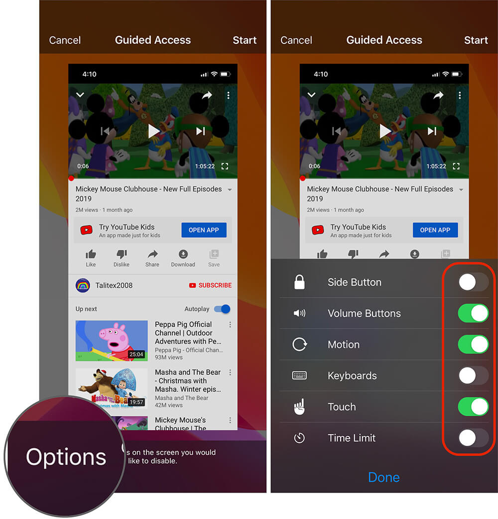 Choose Prefered Option to Set Guided Access on iPhone
