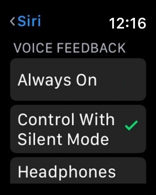 Choose when Siri Speaks on Apple Watch Series 3