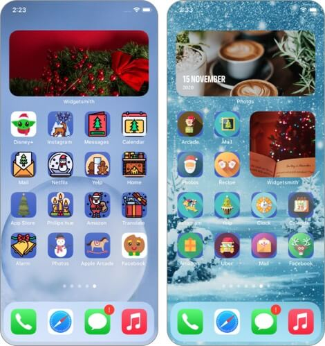 Christmas Aesthetic App Icons Free By iGeeks for iPhone Screenshot