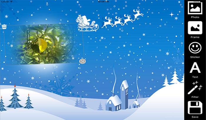 Christmas Backgrounds iPhone and iPad App Screenshot