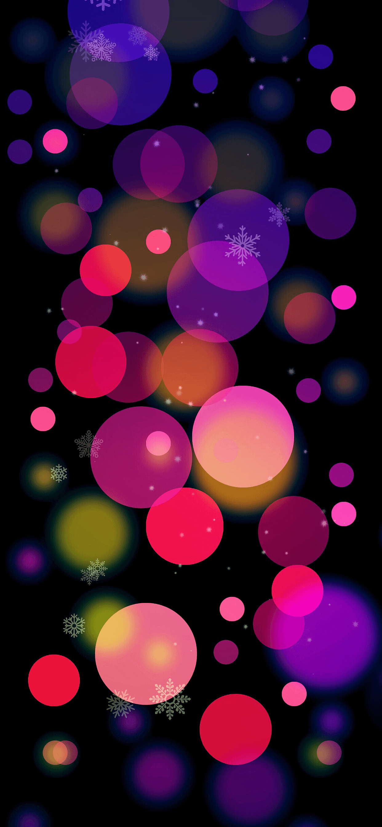 Christmas Colors Balls for iPhone XS MAX Wallpaper