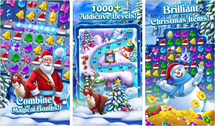 Christmas Frozen Swap iPhone and iPad App Screenshot