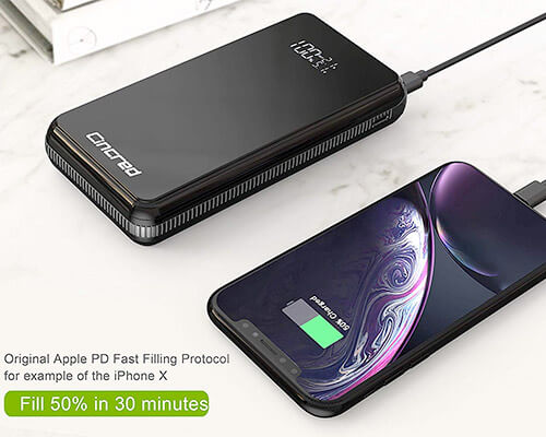 Cincred iPhone Xs Max, Xs, and iPhone XR Power Bank