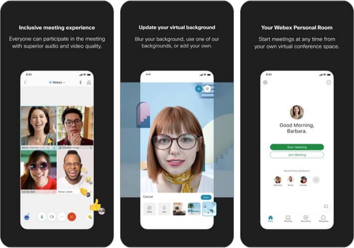 Cisco Webex Meetings best iPhone business meeting app screenshot