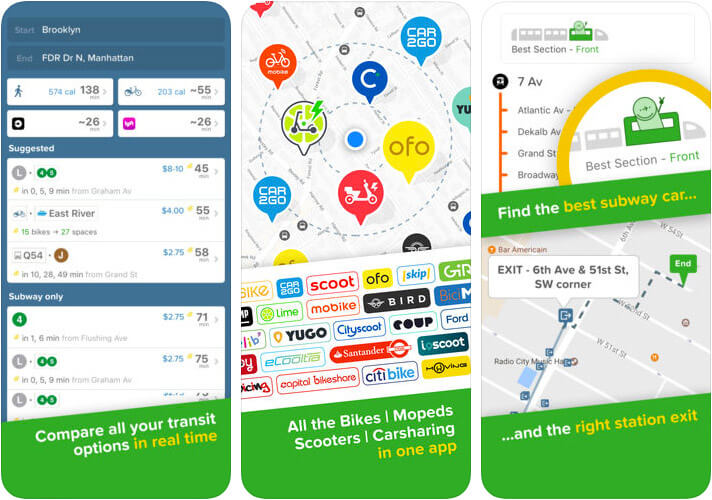 Citymapper Transit Navigation iPhone and Apple Watch App Screenshot