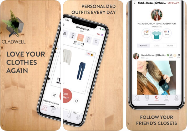 Cladwell iPhone and iPad Closet Management App Screenshot