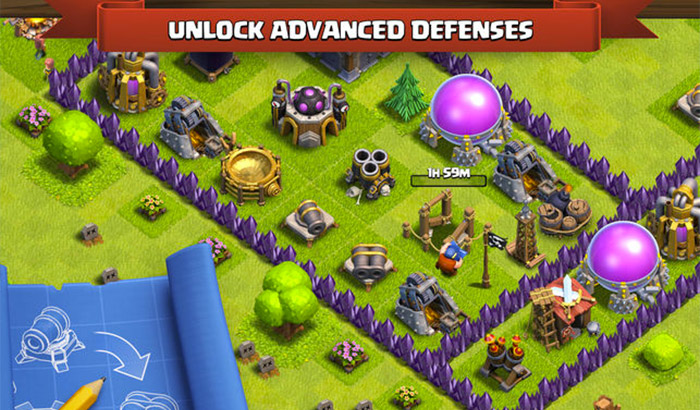 Clash Of Clans iPad Pro Game Screenshot