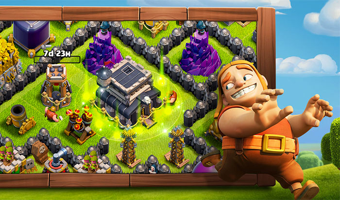Clash of Clans iPhone and iPad Strategy Game Screenshot