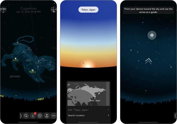 Classic Sky Map 2 Stargazing iPhone and iPad App Screenshot
