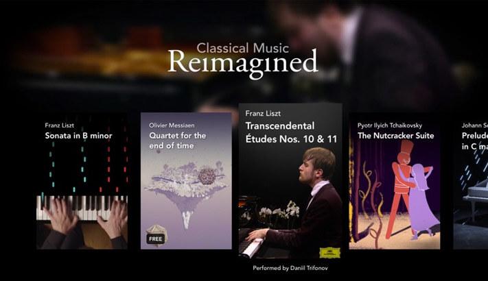 Classical Music Reimagined Apple TV Learning App Screenshot