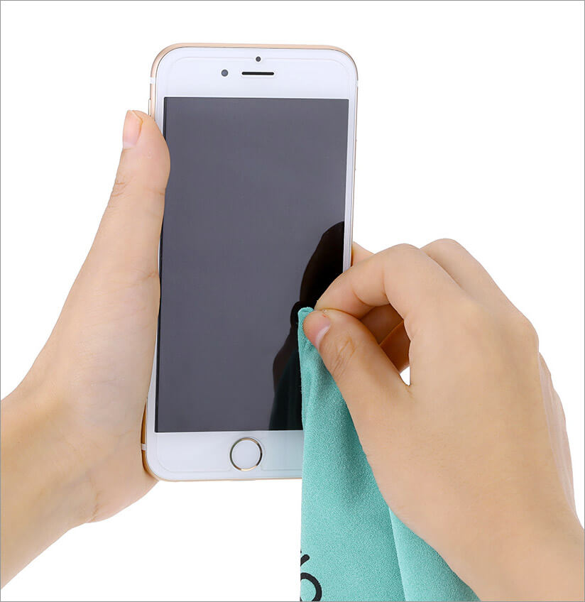 Clean iPhone Display with a Soft Cloth