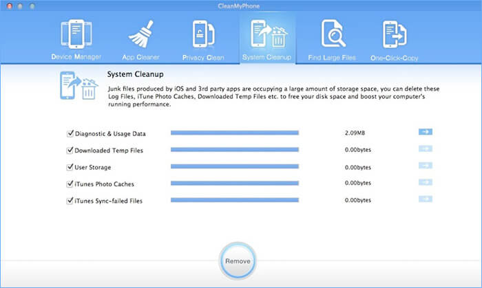 CleanMyPhone Mac and Windows iPhone Cleaner