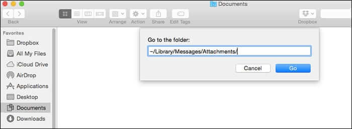 Clear Message Attachement in Mac OS X
