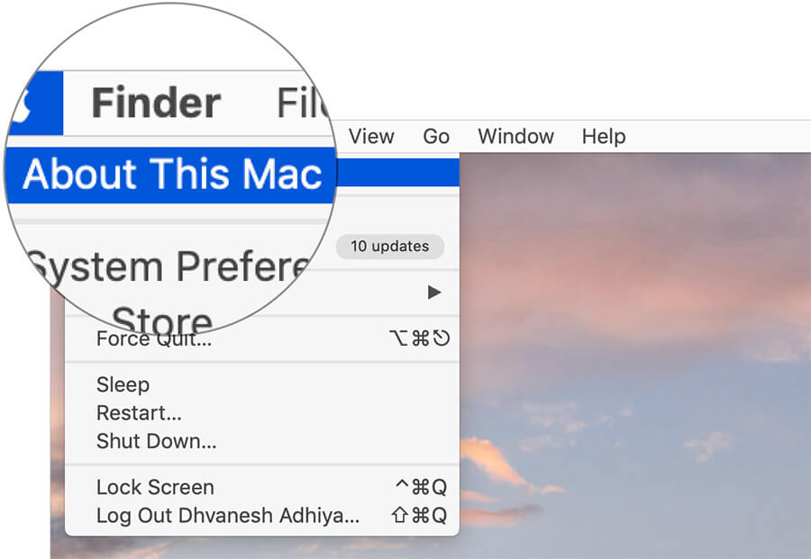 Click On About This Mac