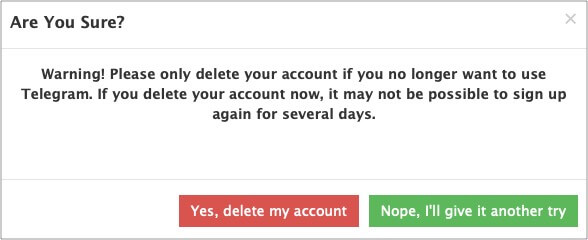 Click Yes delete my account to confirm on Mac