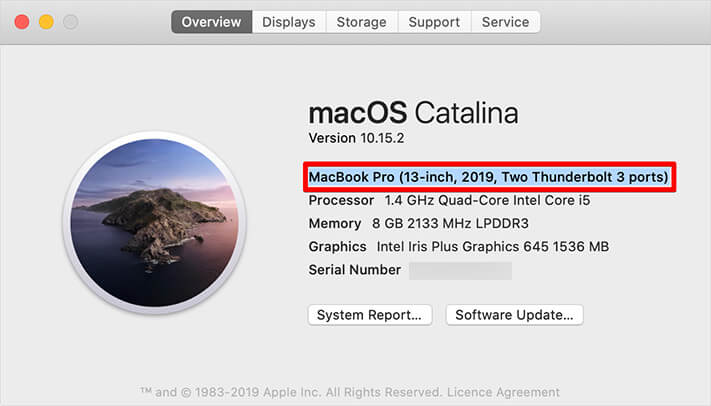 Click on About This Mac to Check MacBook Turbo Boost Technology