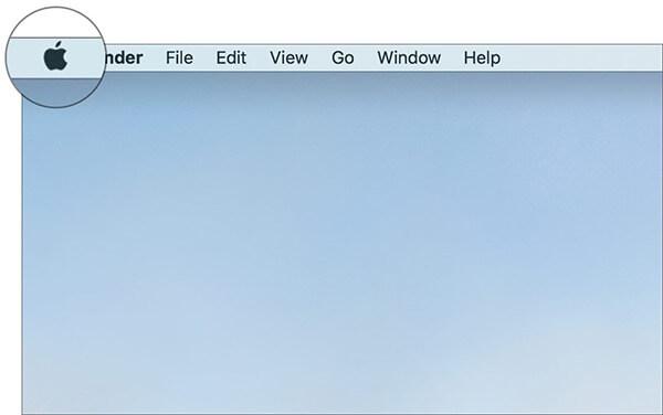 Click on Apple menu on Mac