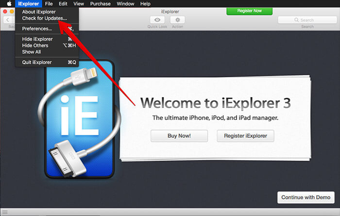 Click on Check for Updates in Third-party App on Mac