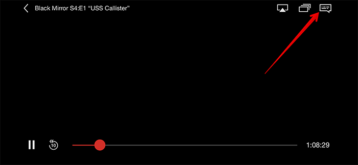 Click on Dialog Box in Netflix on iPhone or iPad