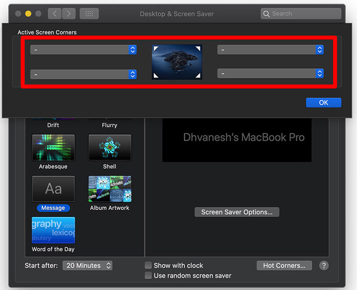 Click on Dropdown Menu and click on Mission Control on Mac
