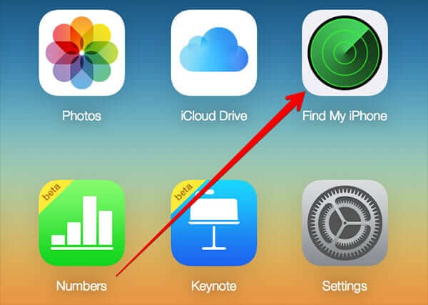 Click on Find My iPhone in iCloud