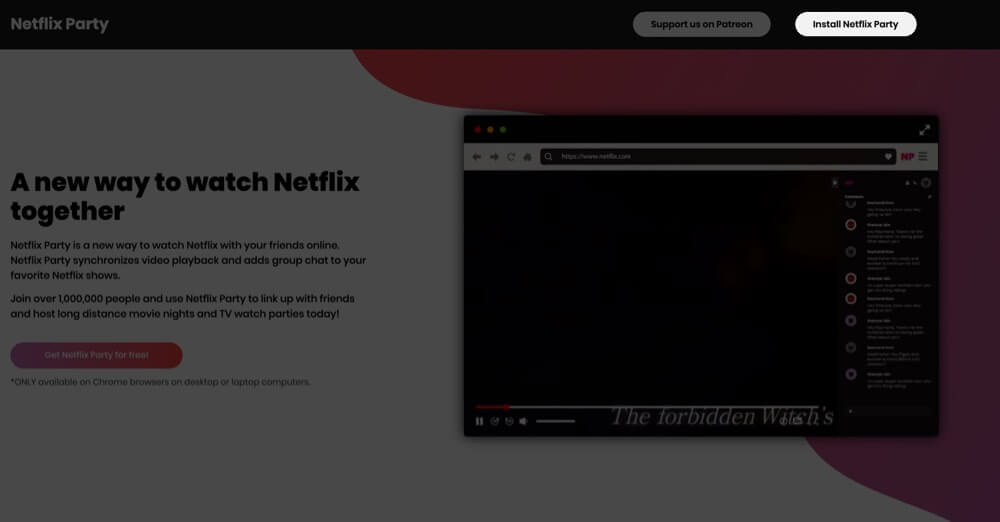 Click on Install Netflix Party