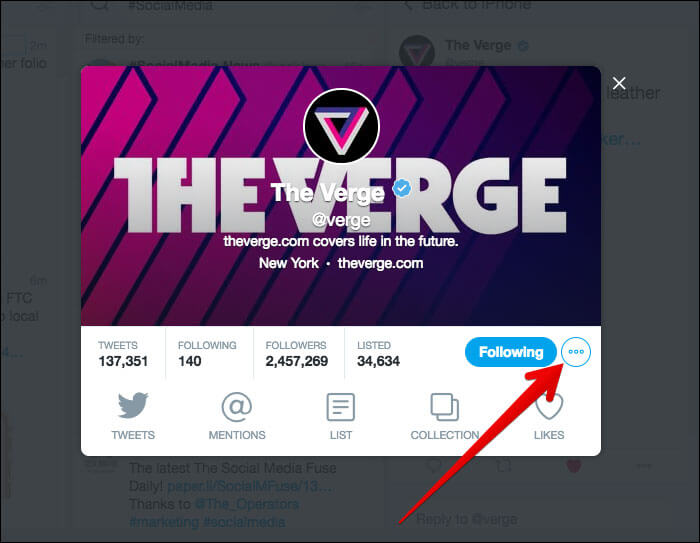 Click on More icon next to Profile in TweetDeck