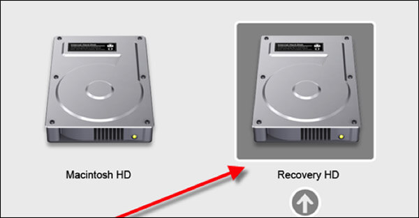Click on Recovery HD on MacBook