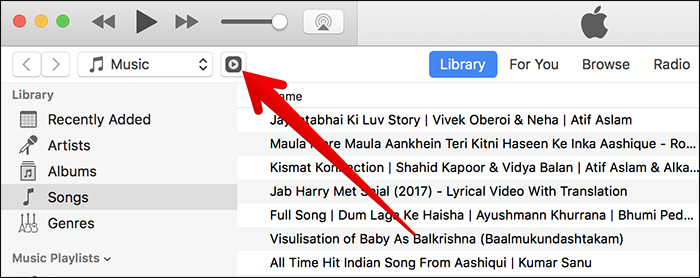 Click on Remote Icon in iTunes