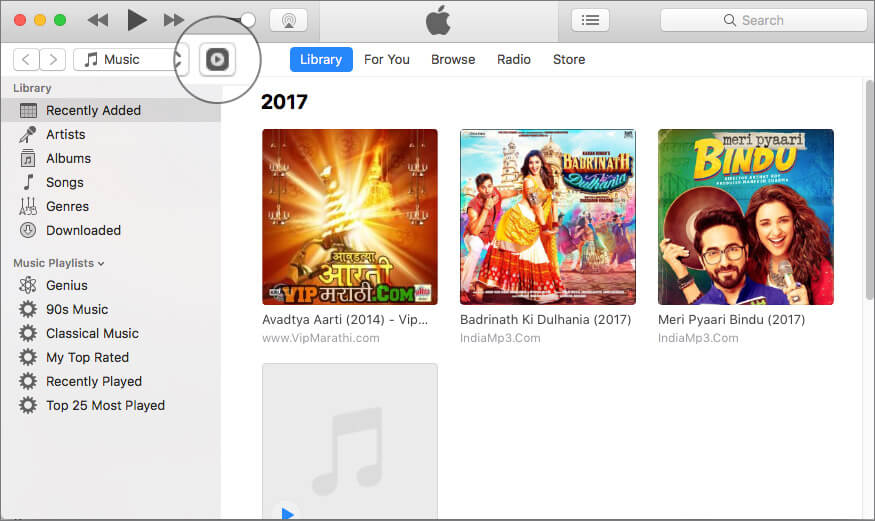 Click on Remote app icon in iTunes