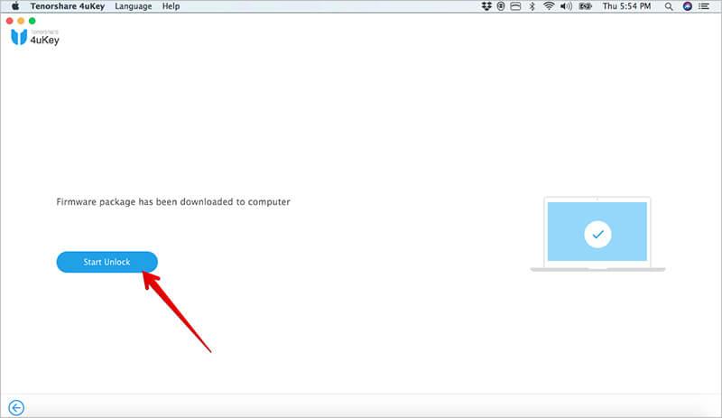 Click on Start Unlock to Bypass iPhone Passcode