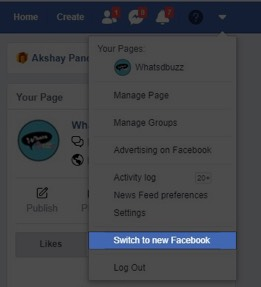 Click on Switch to New Facebook