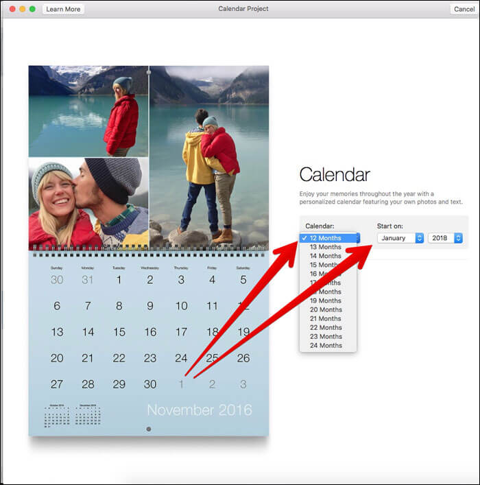 Click on month length and Select Month, Year on Mac Photos App