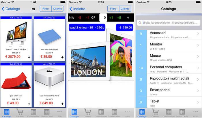 ClickOrder LITE iPad Catalogue Management App Screenshot