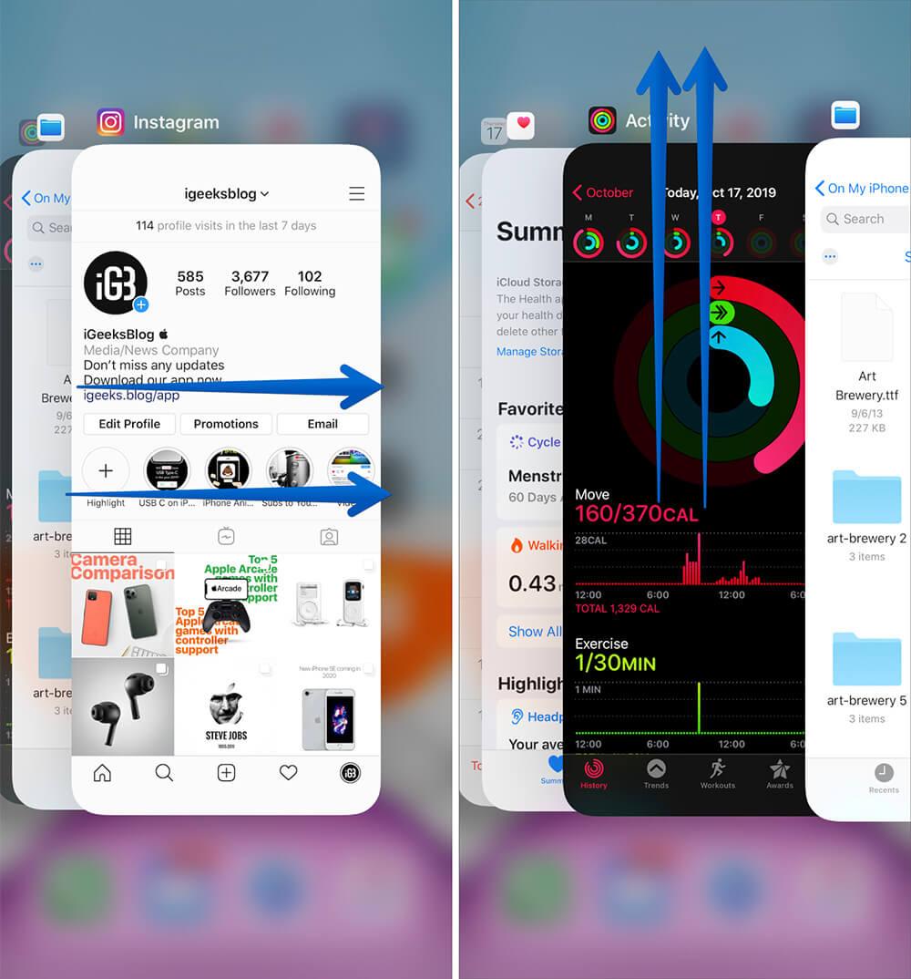 Close App on iPhone 11