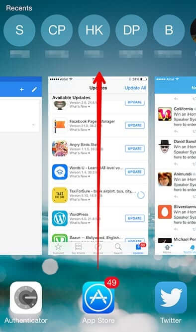 Close Apps on iOS 8