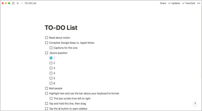 Close side menu to better concentrate on the task in Notion iOS app