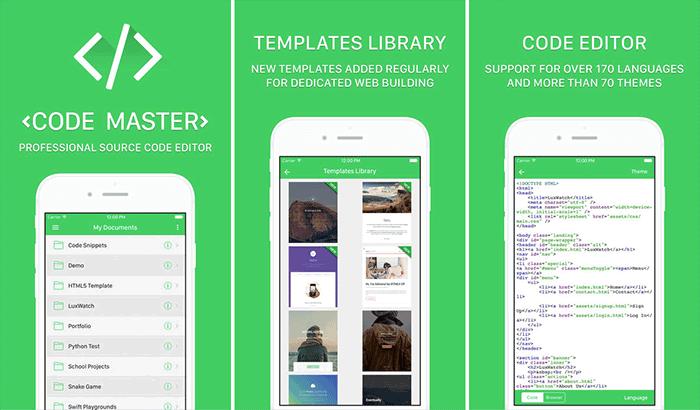 Code Master HTML Editor iPad App Screenshot